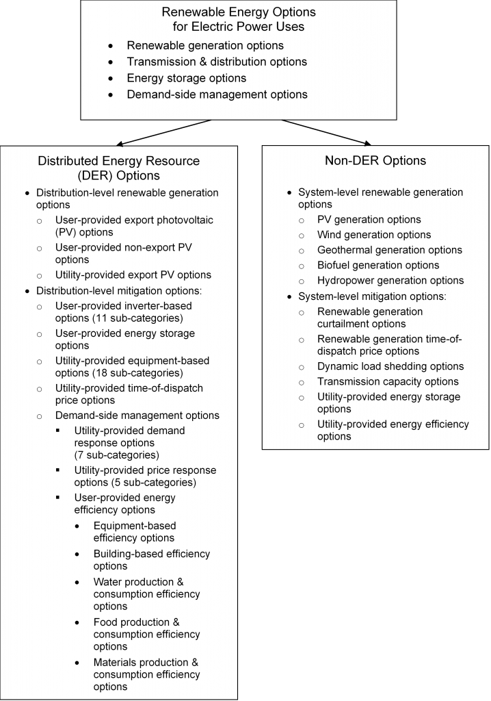 Distributed Energy Resource Options and Non-DER Options
